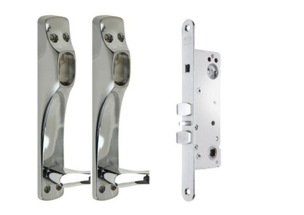 Assa Abloy Connect 220-35 lukukomplektid kitsasprofiil uksele Palmett Lukud