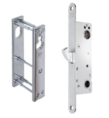 Assa Abloy Connect 411-35 lukukomplekt turvakatetega kitsasprofiil uksele Palmett Lukud