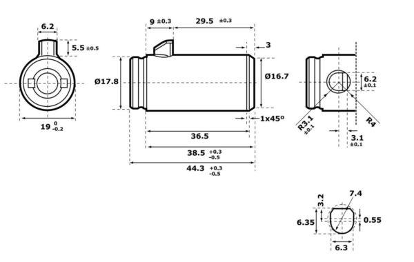 Abloy CL291 teraspoltlukk mõõdud Palmett lukud