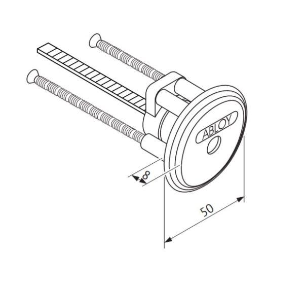 Abloy CY027 garaažiukse võtmepesa mõõdud Palmett lukud