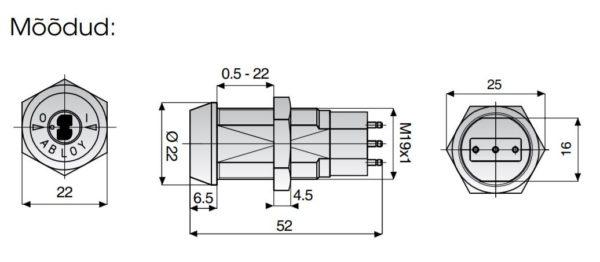 Abloy EP401 mikrolülitilukk mõõdud Palmett lukud