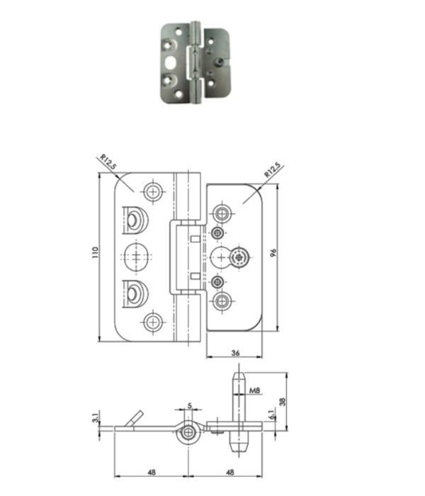 ABLOY hing 110X36 KSS-F