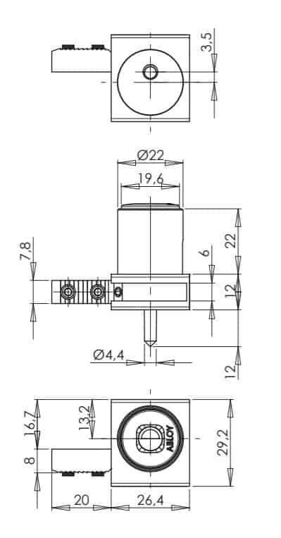 Abloy OF432 surunupplukk mõõdud Palmett lukud