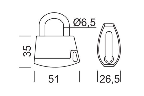 Abloy PL318 tabalukk mõõdud Palmett lukud