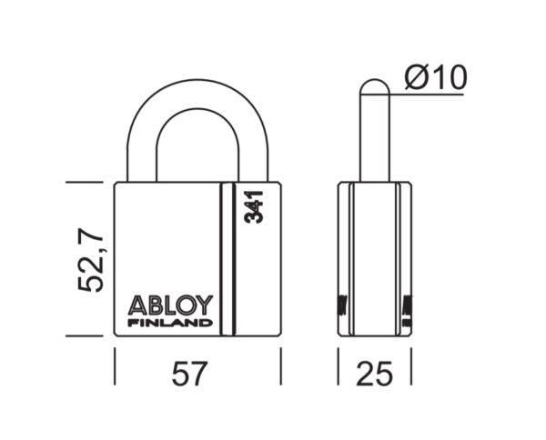 Abloy PL341 tabalukk mõõdud Palmett lukud