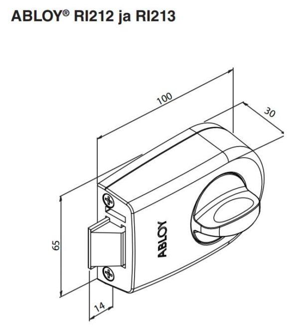 Abloy RI212 pindlukk mõõdud, Palmett lukud