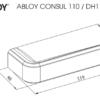 Abloy CONSUL 110 ukselink mõõdud Palmett lukud