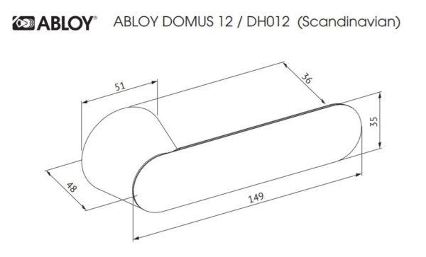 Abloy DOMUS 12 ukselink mõõdud Palmett lukud