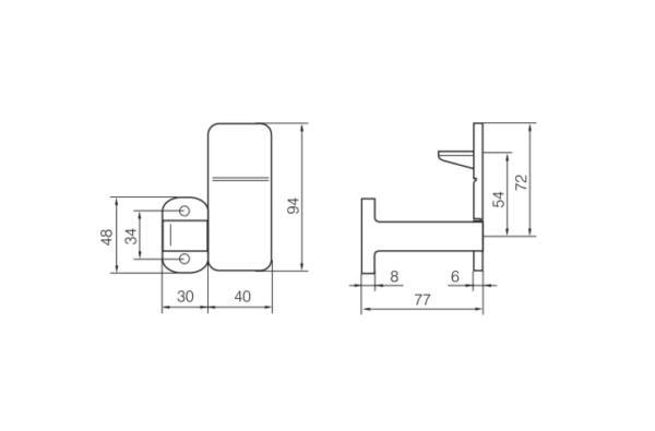 Abloy lingifiksaator EH900 mõõdud Palmett lukud