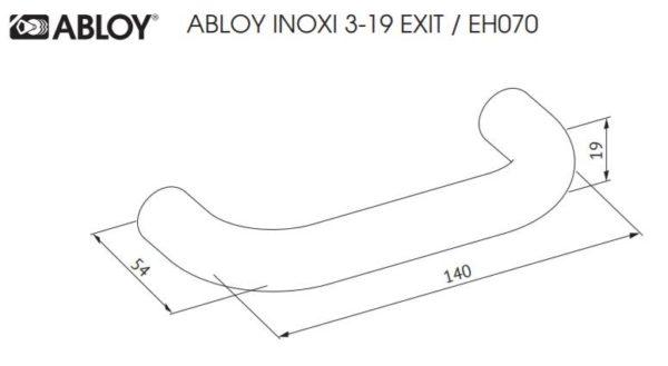 Abloy INOXI 3-19 EXIT ukselink mõõdud Palmett lukud