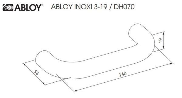 Abloy INOXI 3-19 ukselink mõõdud Palmett lukud