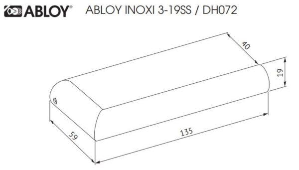 Abloy INOXI 3-19SS ukselink mõõdud Palmett lukud