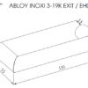 Abloy INOXI 3-19K EXIT ukselink mõõdud Palmett lukud