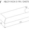 Abloy INOXI 3-19K ukselink mõõdud Palmett lukud