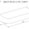 Abloy INOXI 3-19S ukselink mõõdud Palmett lukud
