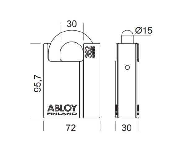 Abloy PL362 tabalukk mõõdud Palmett lukud