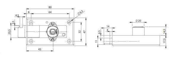 Abloy SC210 hoiukapilukk mõõdud Palmett lukud