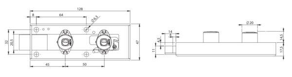 Abloy SC211 hoiukapilukk mõõdud Palmett lukud