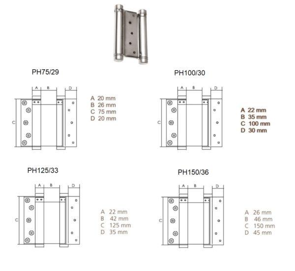 Pendelhing PH75/29, PH100/30, PH125/33, PH150/36