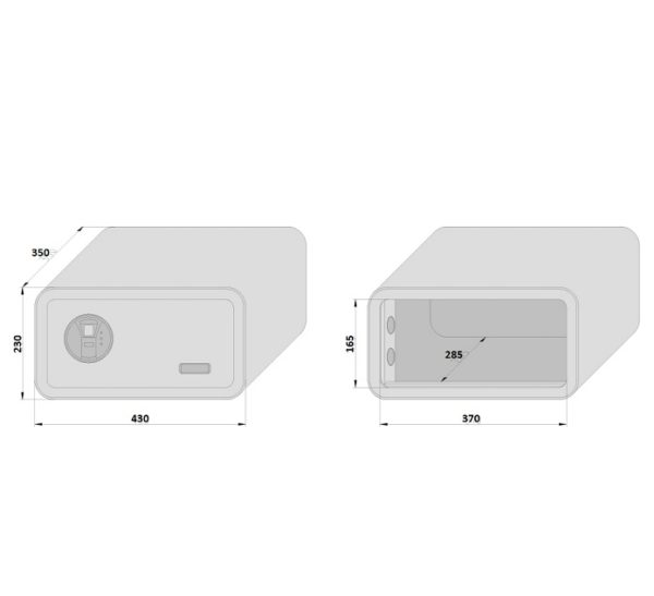 Basi mySafe 430 sõrmejäljelugejaga mõõdud Palmett Lukud