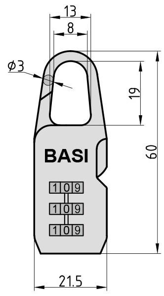 Basi KS 615 tabalukk mõõdud Palmett Lukud