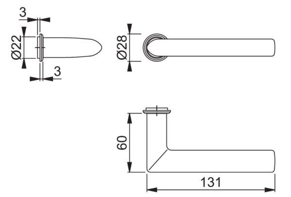 Hoppe 1140Z/845 Stockholm ukelink mõõdud Palmett Lukud