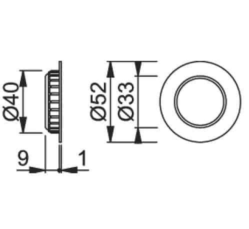 Hoppe 499 lükandukse käepide mõõdud Palmett Lukud