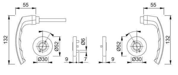 Hoppe 199/42FI/42FIS Luxembourg link + kilp mõõdud Palmett Lukud