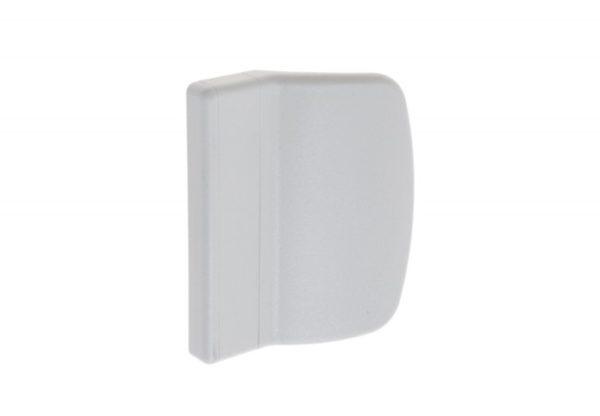 Verandaukse või rõduukse välimine plastikust käepide (valge) - Palmett Lukud