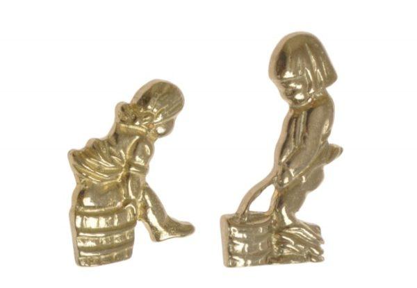 Tualettruumi tähised poiss ja tüdruk, messing - Palmett Lukud