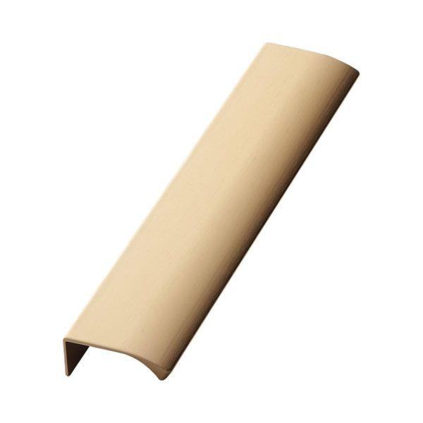 Beslag Design profiilkäepide 200 mm harjatud messing Palmett Lukud