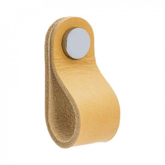 Beslag Design nahast mööblinupp naturaalne/kroom Palmett Lukud