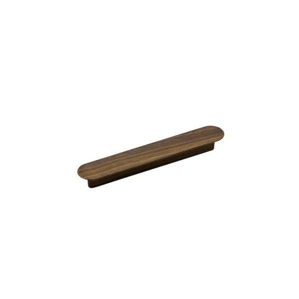 Beslag Design puidust käepide Tuba 128 mm tume Palmett Lukud