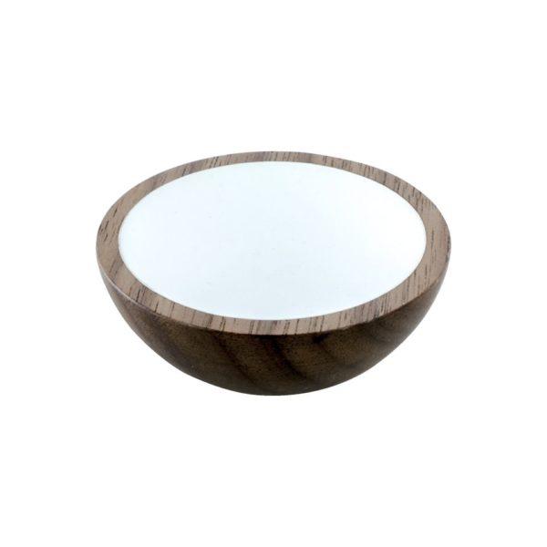 Beslag Design mööblinupp Wok 50 mm pähklipuu/valge Palmett Lukud