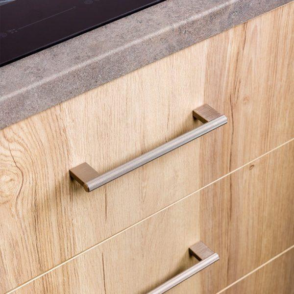 Beslag Design käepide Graf Mini 160 mm roostevaba terase stiilis Palmett Lukud