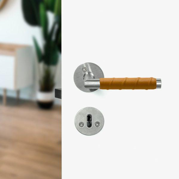 Beslag Design ukselink Kastrup 04 nahaga naturaalne Palmett Lukud