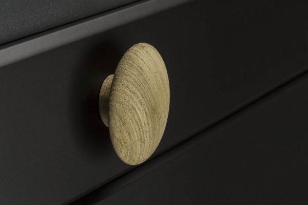 Beslag Design puidust mööblinupp Mushroom Palmett Lukud